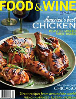 Food and Wine Magazine September 2013 Editors Top Pick